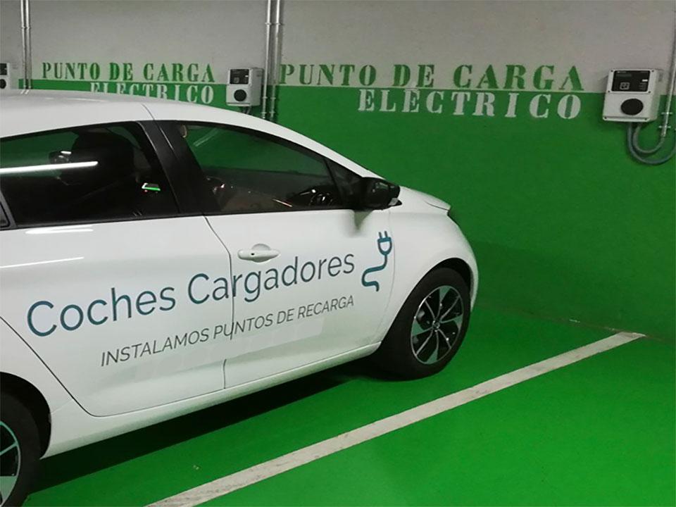 Instalación puntos de carga en toda España. Coches cargadores
